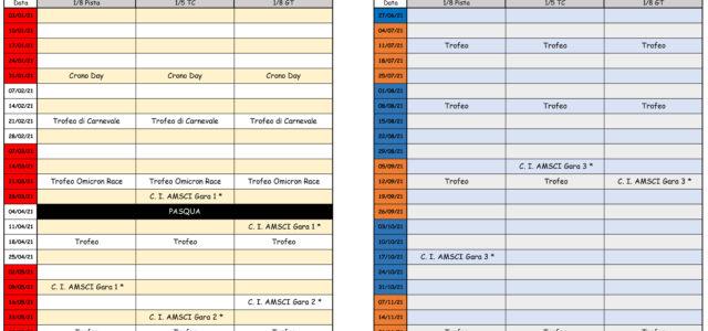 Ecco a voi il calendario gare per l'anno 2021.Le date potrebbero subire cambiamenti a causa di eventuali aggiornamenti relativi all'emergenza COVID-19.
